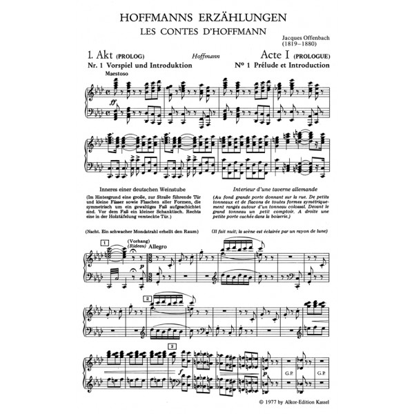Offenbach J. - Tales of Hoffmann (complete opera) (F-E-G) (Oeser).