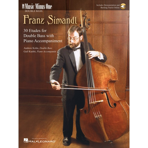 Simandl - Complete Etudes for Double Bass - Music Minus One