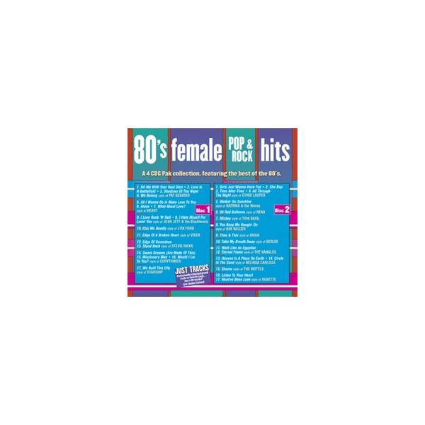 Female Pop & Rock Hits 4 CD Set