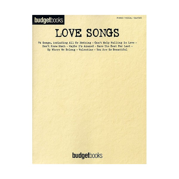 Budgetbooks: Love Songs