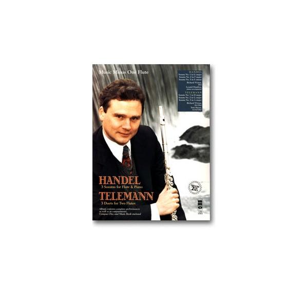 HANDEL Three Sonatas for Flute & Piano: TELEMANN Three Duet Sonatas for Two Flutes (2 CD Set)