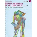 Selected Masterpieces For The Classic Guitar Vol4 124 Worlds Favorite