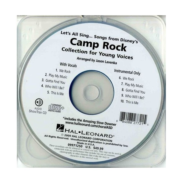 Lets All Sing Songs from Disneys Camp Rock: Collection For Young Voices (ShowTrax CD)