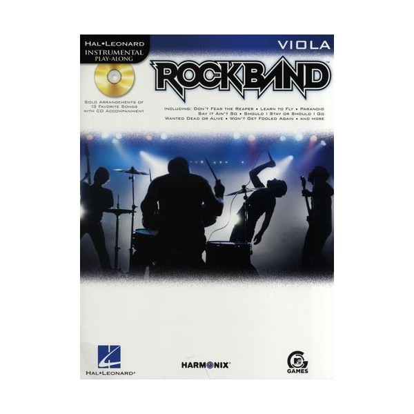 Hal Leonard Instrumental Play-Along: Rock Band (Viola)