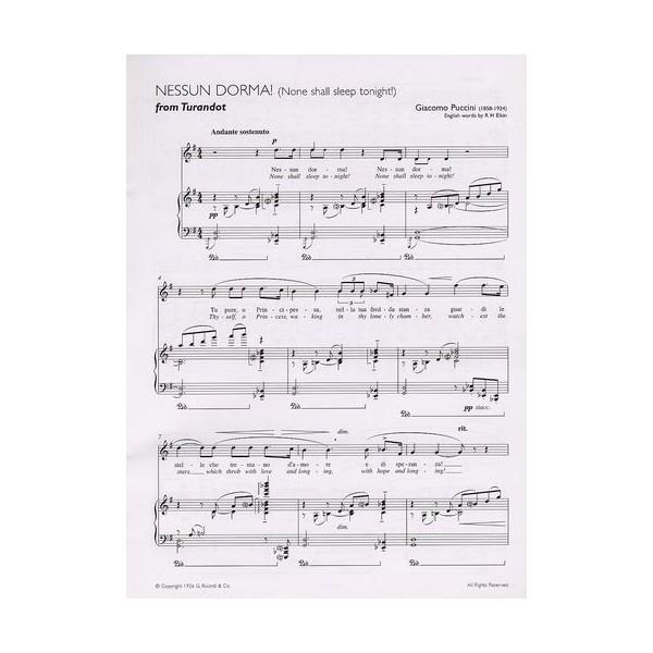 Nessun Dorma Lyrics Sheet Music: Nessun Dorma (Turandot