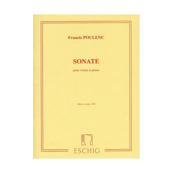 Poulenc, Francis  -  Sonate Pour Violon Et Piano