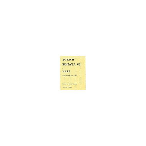 Bach, J C - Sonata No. VI in B flat. Violin, Cello and Harp (or Piano)