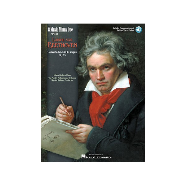 Beethoven - Piano Concerto No. 5 in E-flat major, op. 73 (New Digital Recording - 2 CD set) - Music Minus One