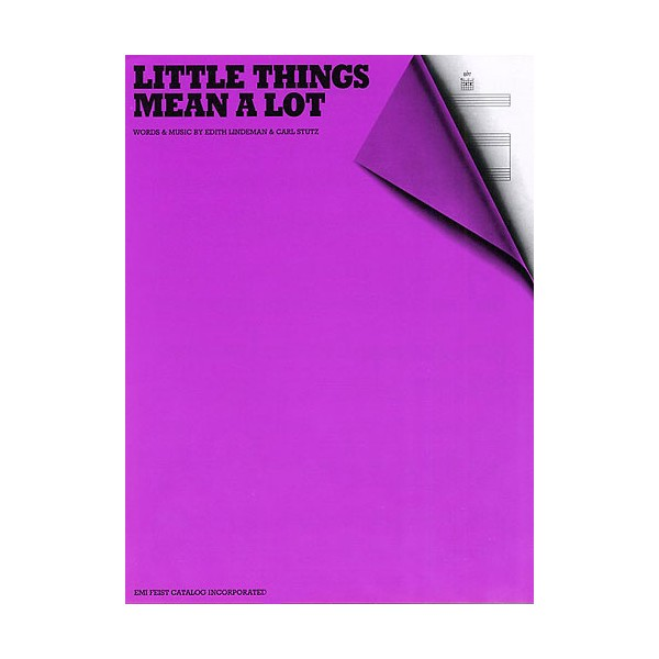 Edith Lindeman/Carl Stutz: Little Things Mean A Lot (PVG)