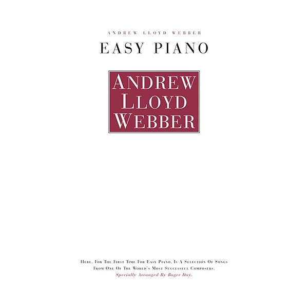 Andrew Lloyd Webber: Easy Piano