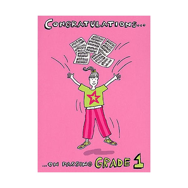Music Gallery: Congratulations Card - Grade 1 (Girl)