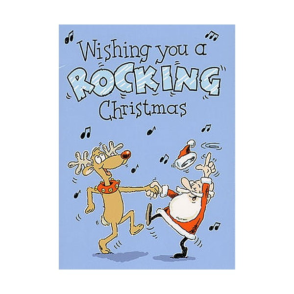 Music Gallery: Wishing You A Rocking Christmas Greeting Card