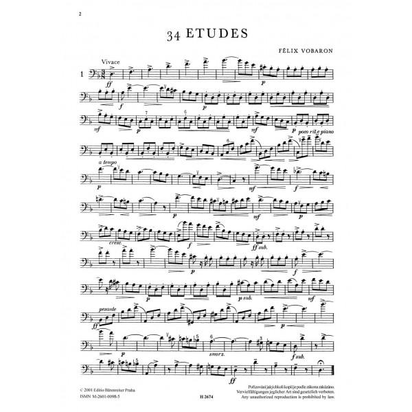 Vobaron F. - Studies for Trombone