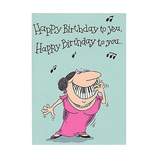 Music Gallery Adult Female Birthday Card
