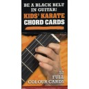 50 Guitar Flash Cards: Kids Karate Chord Cards