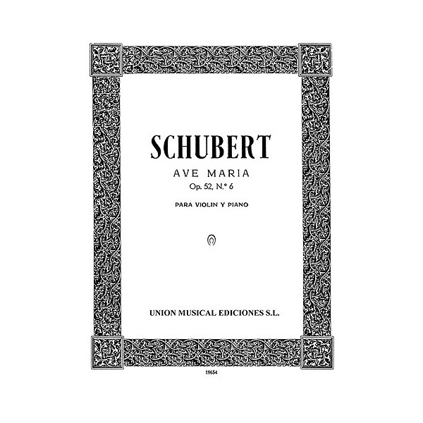 Franz Schubert: Ave Maria For Violin And Piano