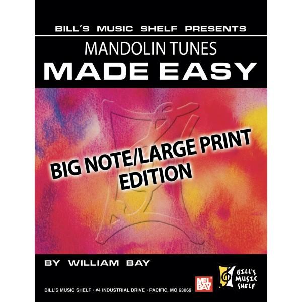 Mandolin Tunes Made Easy, Big Note/Large Print Edition - Big Note/Large Edition