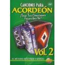Canciones Para Acordeon Vol. 2, Spanish Only