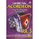Canciones Para Acordeon Vol. 3, Spanish Only