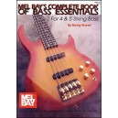 Complete Book of Bass Essentials - For 4 & 5 String Bass Set