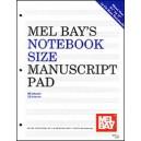 Notebook-Size Manuscript Pad 12-Stave
