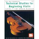 Technical Studies for Beginning Violin