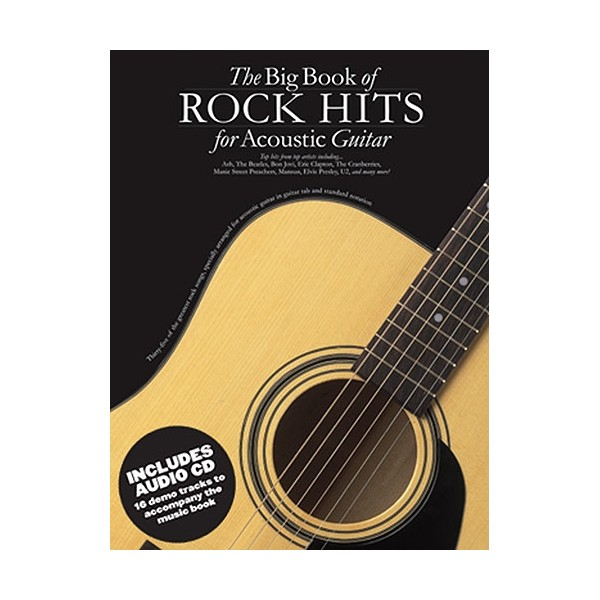 The Big Book Of Rock Hits For Acoustic Guitar (Book And CD)
