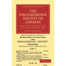 The Philharmonic Society of London - From its Foundation, 1813, to its Fiftieth Year, 1862
