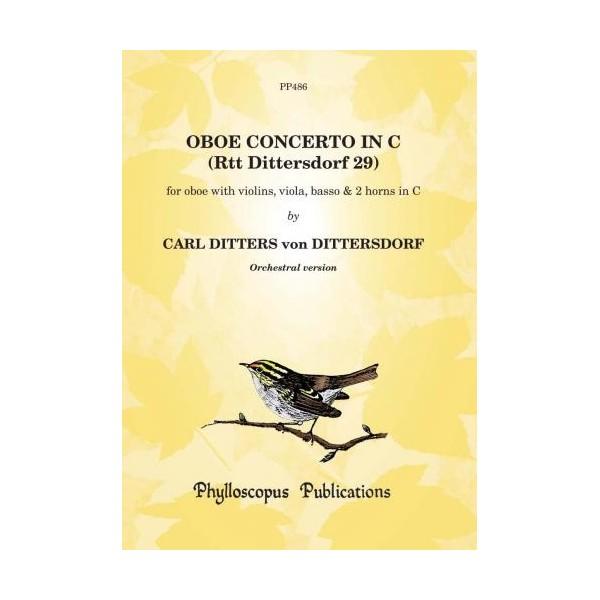 Oboe Concerto in C (Dittersdorf 29) Scr&Pts - Carl Ditters von Dittersdorf