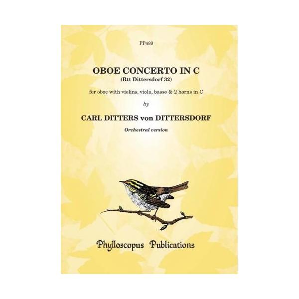 Oboe Concerto in C (Dittersdorf 32) Scr&Pts - Carl Ditters von Dittersdorf