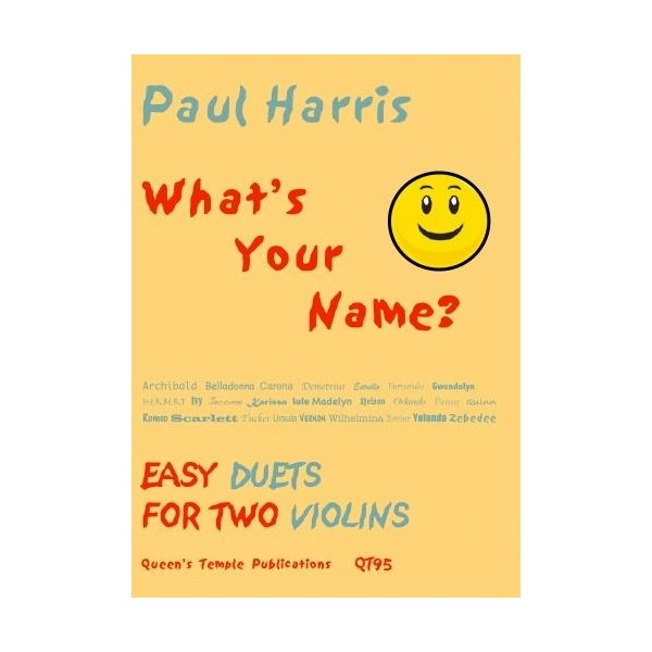 Whats Your Name? - Paul Harris Words: Anthony Meredith