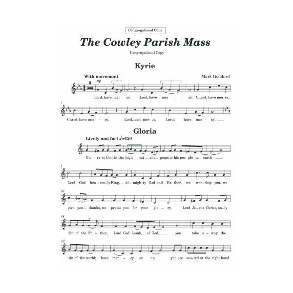 The Cowley Parish Mass: congregational copy - Mark Goddard