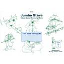 Jumbo 4 Stave Manuscript Book - :