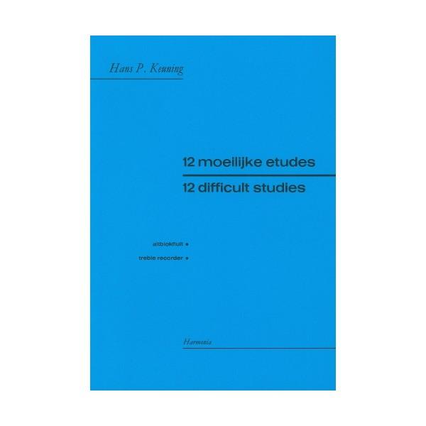 Twelve Difficult Studies for treble recorder - Hans P Keuning