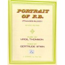 Virgil Thomson: Portrait Of F.B. (Frances Blood) - Thomson, Virgil (Artist)