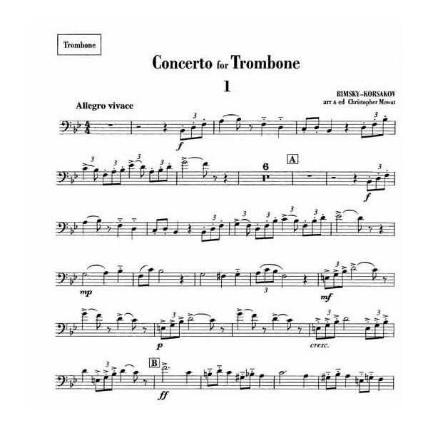 Rimsky-Korsakov, Nikolai - Concerto for Trombone (Bass Clef)