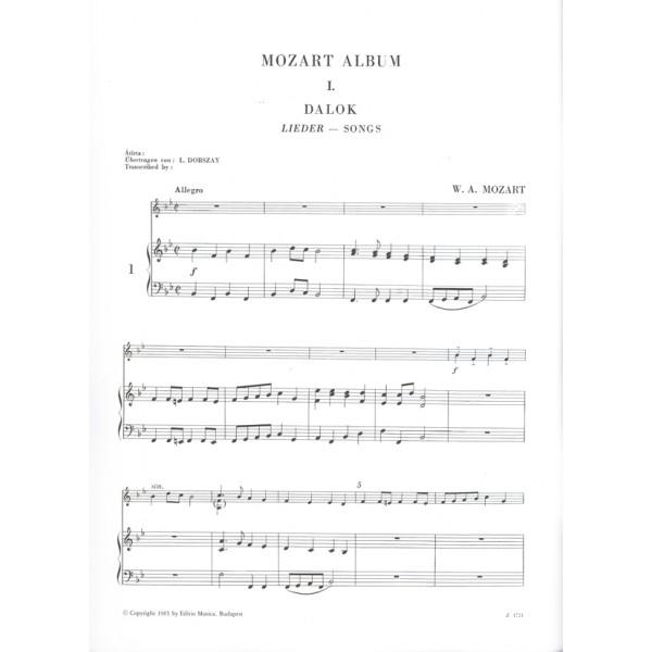 Mozart, Wolfgang Amadeus - Album For Violin - Songs