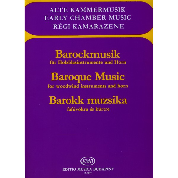 Baroque Music - for woodwind instruments and horn