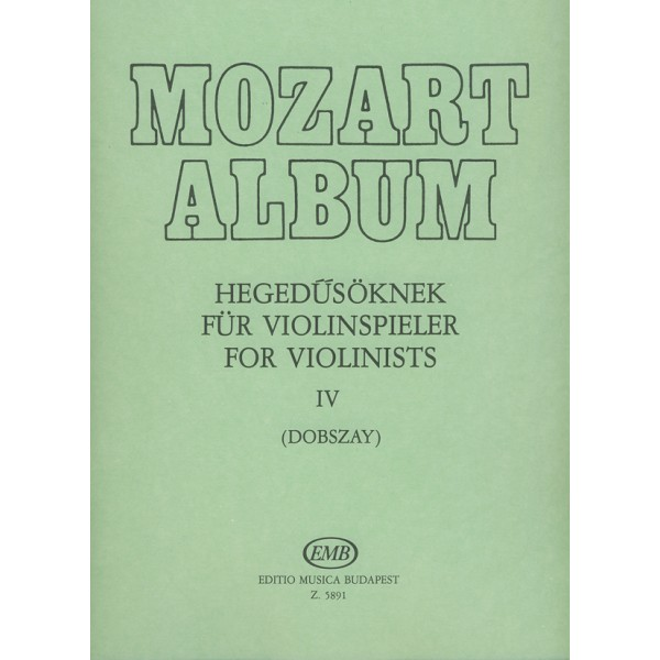 Mozart, Wolfgang Amadeus - Album For Violin - Adagio and Andante Movements