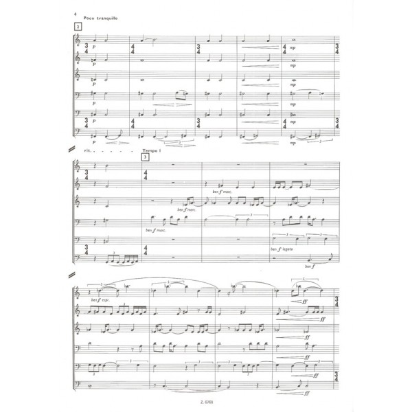 Láng István - Cassazione - for three trumpets, two trombones and tuba