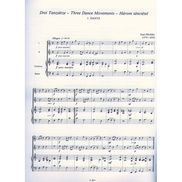 Chamber Music For Beginners For Two Melodic Instruments And Bass
