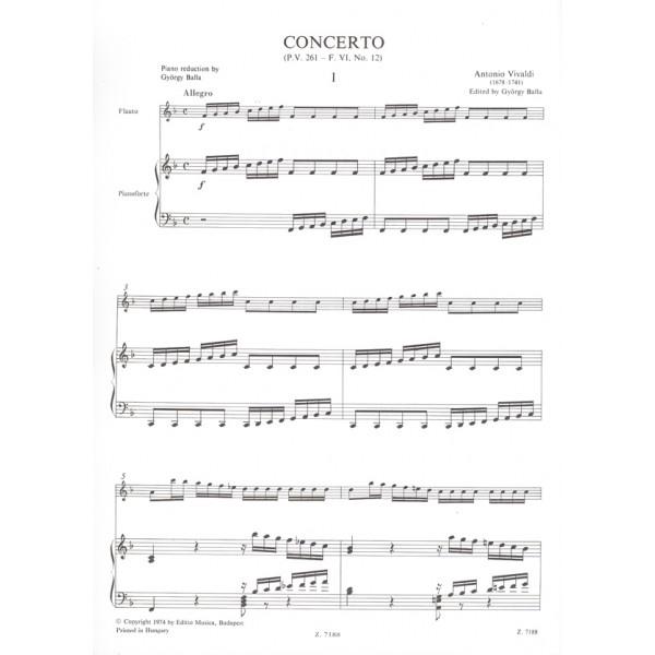 """Vivaldi, Antonio - Concerto In Fa Maggiore La Tempesta Di Mare"""""""" - per flauto, archi e cembalo RV 433 (F. VI. No. 12, P.V. 261)"""