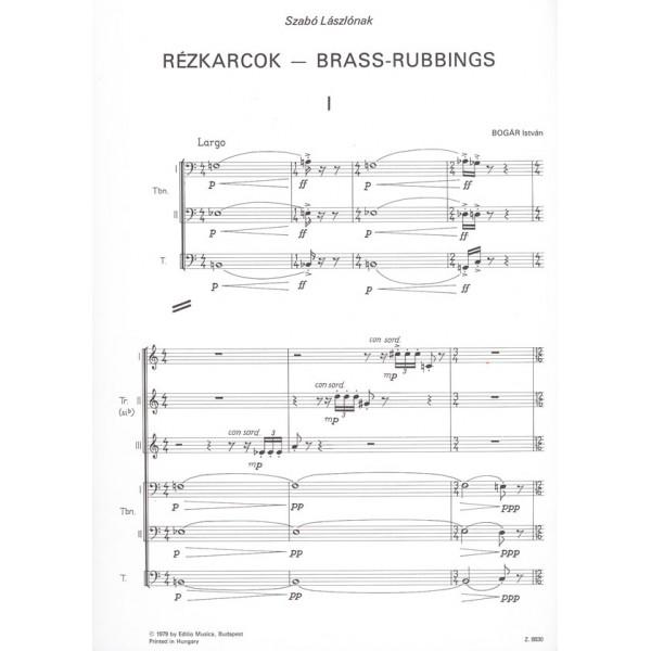 Bogár István - Brass-rubbings - Three Sketches for brass sextet