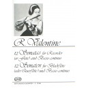 Valentine, Robert - 12 Sonatas For Recorder (or Flute) And Basso Continuo