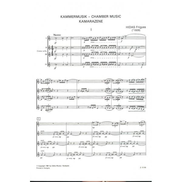 Hidas Frigyes - Chamber Music - for 4 Horns