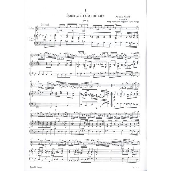 Vivaldi, Antonio - 12 sonate per violino e basso continuo