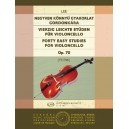Lee, Sebastian - 40 Easy Studies - for violoncello