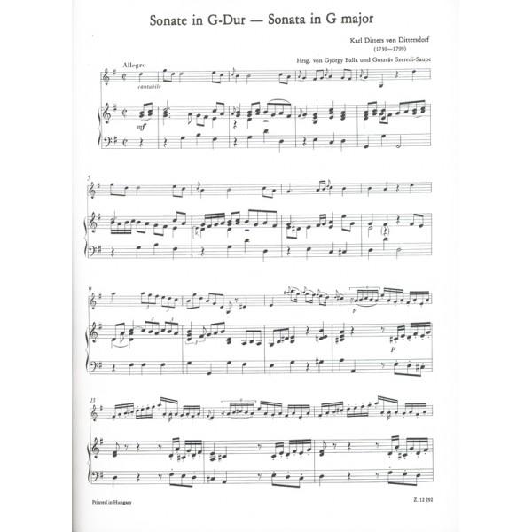 Dittersdorf, Carl Ditters von - 3 sonate per violino e basso continuo (pianoforte)
