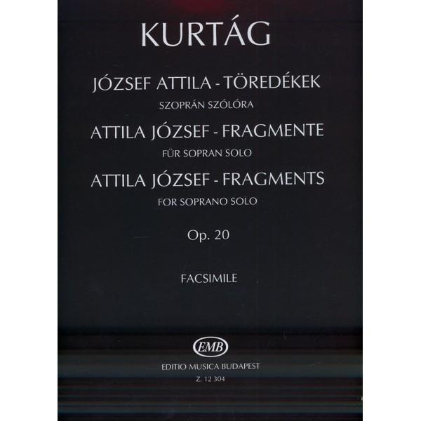 Kurtág György - Attila József Fragments - for soprano solo