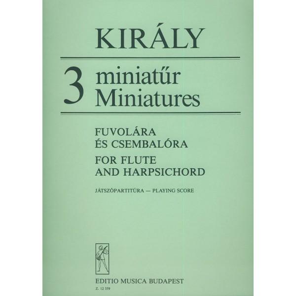 Király László - 3 Miniatures - for flute and harpsichord